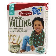 [ 瑞典] Semper Fullkorn Valling 36m  700g  森宝全麦谷物奶粉含水果和斯佩尔特小麦3岁以上