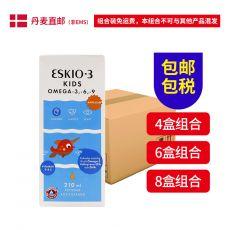 [丹麦包邮包税组合]Eskimo-3 Kids Appelsin 210ml 丹麦儿童爱斯基摩鱼油-橙味210毫升  3瓶组合  6瓶组合  8瓶组合